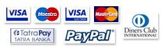 Maestro, VISA, PayPal, TatraPay, ...